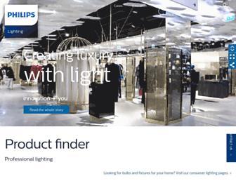 lighting.philips.com screenshot
