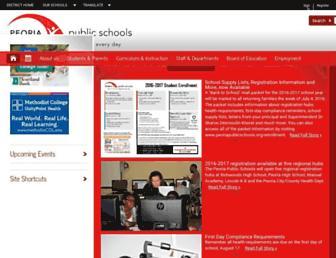 peoriapublicschools.org screenshot