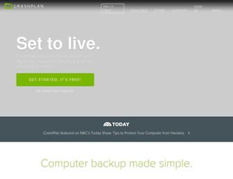 Thumbshot of Crashplan.com