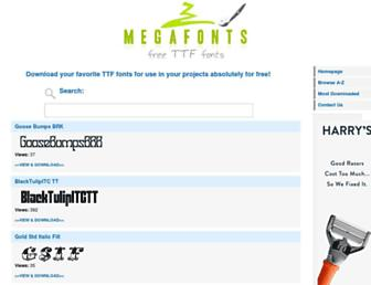 megafonts.net screenshot