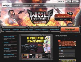 wolfteam.aeriagames.com screenshot