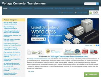 voltage-converter-transformers.com screenshot