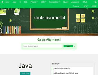 studentstutorial.com screenshot