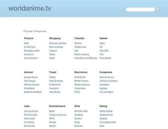 Main page screenshot of worldanime.tv