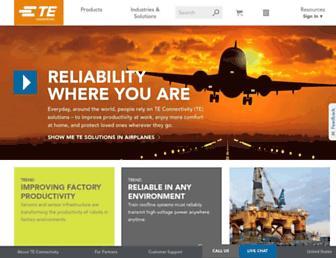 te.com screenshot