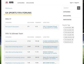 fifaforums.easports.com screenshot