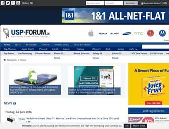 Main page screenshot of usp-forum.de