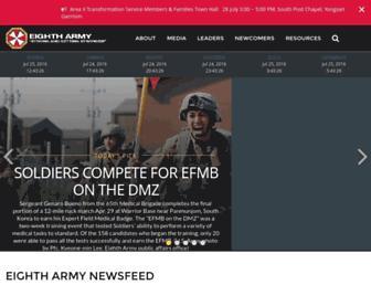 8tharmy.korea.army.mil screenshot