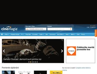 Main page screenshot of cinemagia.ro