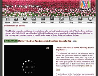 yourlivingmanna.com screenshot