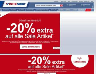intersport.de screenshot