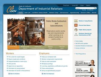 dir.ca.gov screenshot
