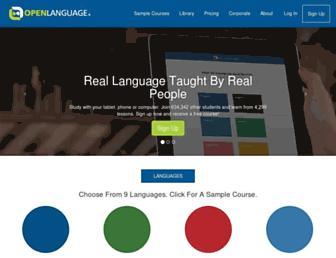 openlanguage.com screenshot