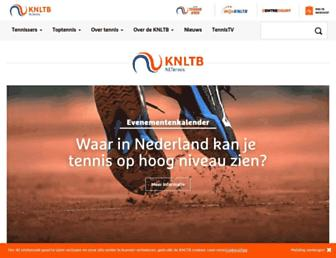 Main page screenshot of knltb.nl