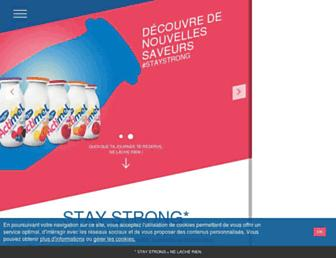 Main page screenshot of actimel.fr
