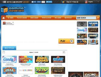 gamingwonderland.com screenshot