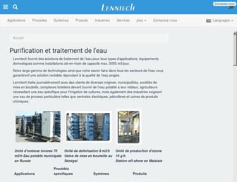 Main page screenshot of lenntech.fr