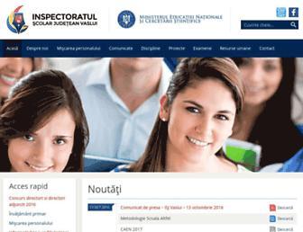 isj.vs.edu.ro screenshot