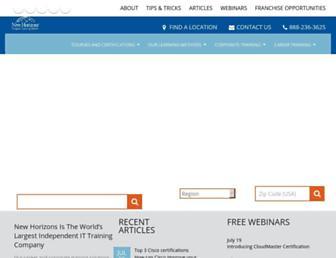 newhorizons.com screenshot