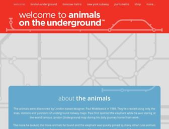 animalsontheunderground.com screenshot