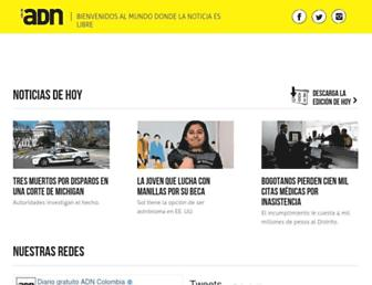 Main page screenshot of diarioadn.co
