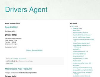 driversagent08.blogspot.com screenshot
