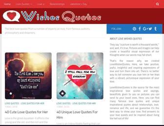 lovewishesquotes.com screenshot