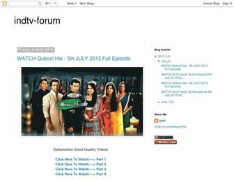 indtv-forum.blogspot.com screenshot