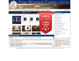 Main page screenshot of courts.mo.gov