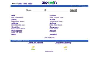 Main page screenshot of geometry.net