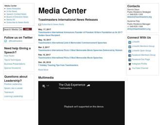 mediacenter.toastmasters.org screenshot
