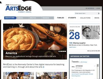 artsedge.kennedy-center.org screenshot