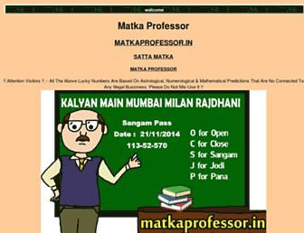 matkaprofessor.com screenshot