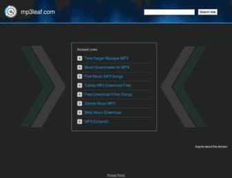 mp3leaf.com screenshot