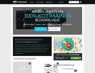 Main page screenshot of vuodatus.net