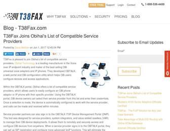 blog.t38fax.com screenshot