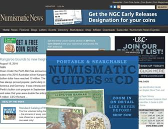 numismaticnews.net screenshot
