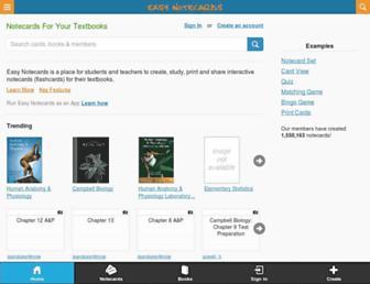 easynotecards.com screenshot