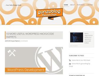 Main page screenshot of gonzoblog.nl