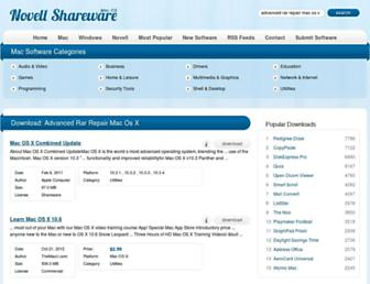 advanced-rar-repair-mac-os-x.mac.novellshareware.com screenshot