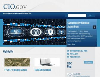 cio.gov screenshot