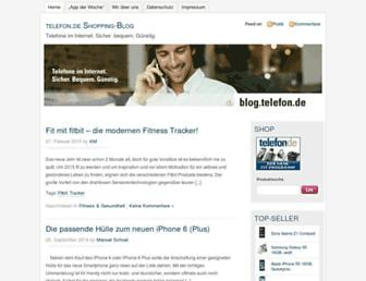 Main page screenshot of blog.telefon.de