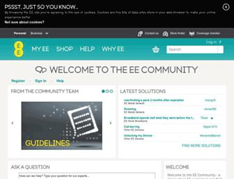 community.ee.co.uk screenshot