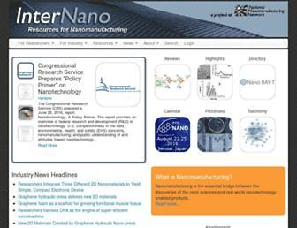 Main page screenshot of internano.org