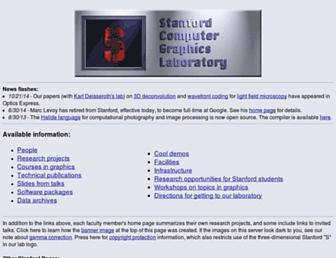 graphics.stanford.edu screenshot
