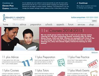 Thumbshot of Elevenplusexams.co.uk