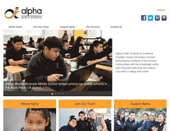 alphapublicschools.org screenshot