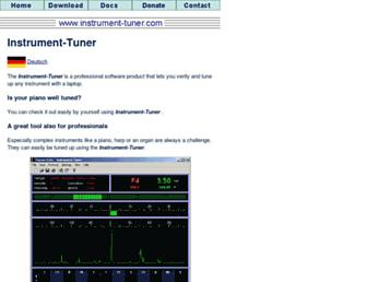 instrument-tuner.com screenshot