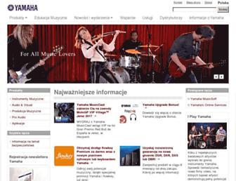 pl.yamaha.com screenshot