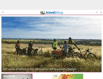 Main page screenshot of travelblog.it